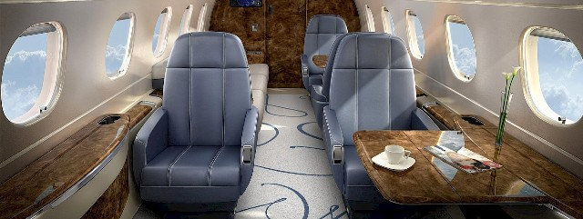 private jet cabin