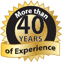 more than 40 years experience